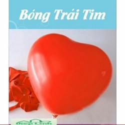 Bộ 100 Bong bóng - bong bóng trái tim hàng Thái Lan màu đỏ - Diệp Linh