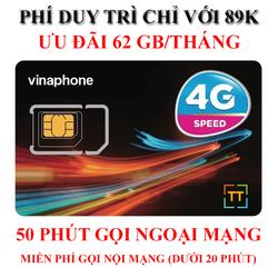 [FLASH DEAL] SIM 4G Vinaphone 62GB   150K Miễn phí vận chuyển