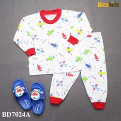 quần áo trẻ em- đồ bộ tay dài bé trai