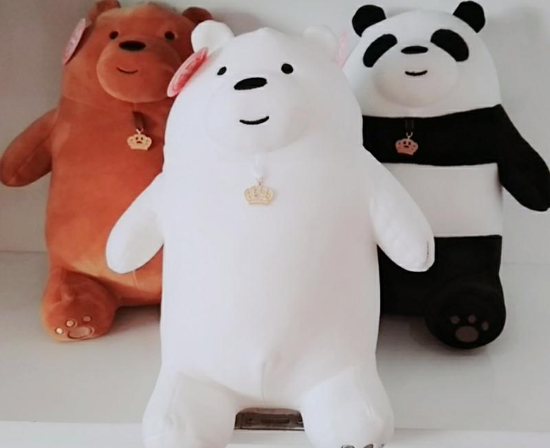 Combo 3 Con  Gấu We Bare Bears Nhồi Bông 2