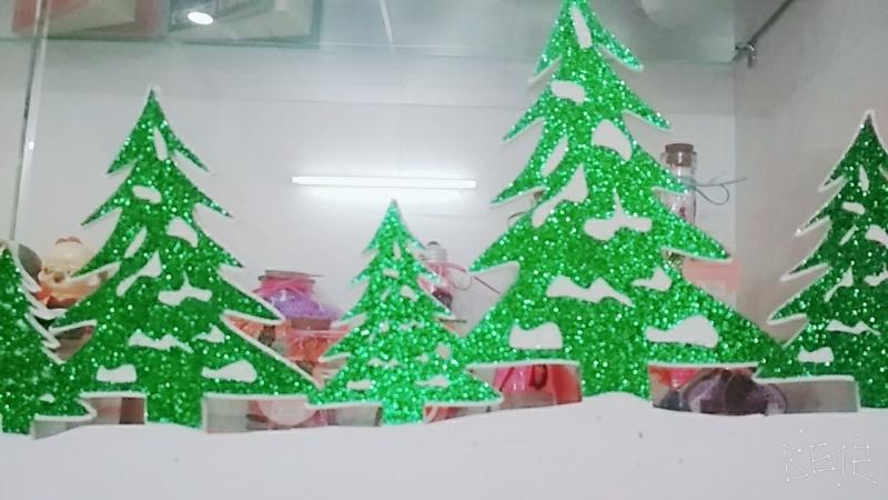 Decan Trang Trí Noel - Hình Cây Thông Có Kim Tuyến 4