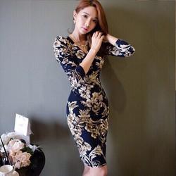 Đầm body hoa cao cấp