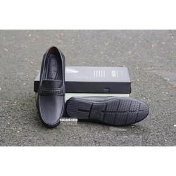 Giày lười nam da bò Geox đai tết màu đen