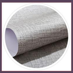 1 cuộn dài 5m ngang 60cm giấy DT giả vải , có keo sẵn,lau được khi bẩn