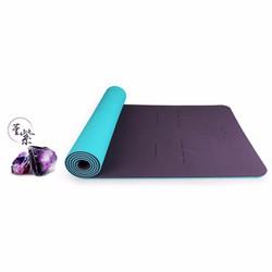 Thảm tập Yoga Hatha màu tím than