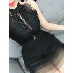 Đầm ren dây hở sexy
