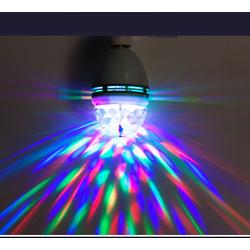 Đèn LED quả cầu xoay pha lê 7 màu và Đuôi xoáy