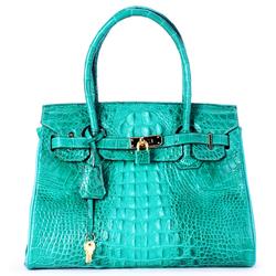 Túi xách da cá sấu cao cấp màu xanh lá SH4226
