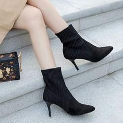 giày ankle boot len sành điệu Mã: GC0250 - ĐEN