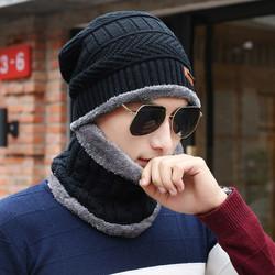 Bộ mũ len kèm khăn cổ
