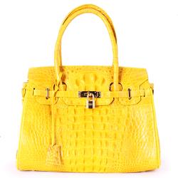 Túi xách da cá sấu cao cấp màu vàng nghệ SH2226