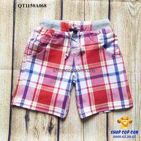 Size 8-12. Quần short caro đỏ - QT1150A068