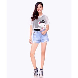 QUẦN SHORT JEAN RÁCH LAI FASHION