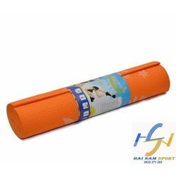 Thảm tập Yoga hoa văn màu cam kèm túi đựng