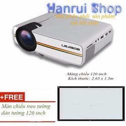 Máy chiếu mini nhỏ gọn YG400 + màn chiếu 120 inch