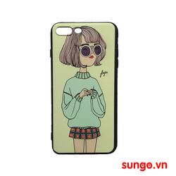 Ốp lưng iPhone 7 Plus dẻo hình Cô Gái Cute