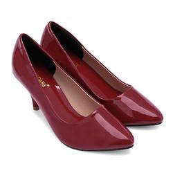 Giày da cao gót màu đỏ SH7107