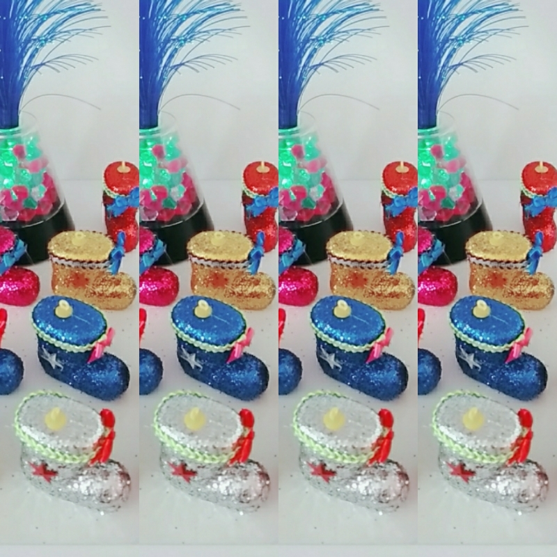 Trang trí Noel -  Combo 5 chiếc giày kim tuyến 1