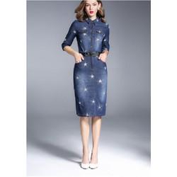 Đầm Jean Thêu HR1385