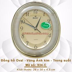 Đồng hồ Oval, Mặt số Kim loại, Mặt kính Trong suốt
