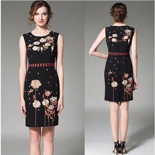 Đầm ôm thêu hoa DT14 – size M~2XL – hàng nhập