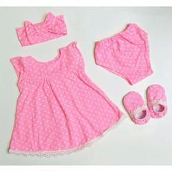 Set váy ren 4 món cho bé 3-13 kg