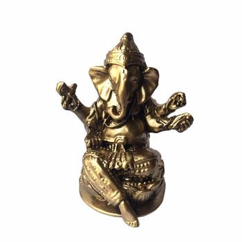 Tượng Đá Thần Voi Ganesha - Màu Nhũ Vàng - TDGANENV
