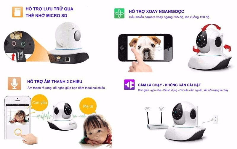 Camera Wifi Yoosee 3 râu 2.0M Full HD 1