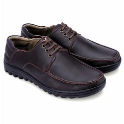 Giày thời trang da bò cột dây màu nâu