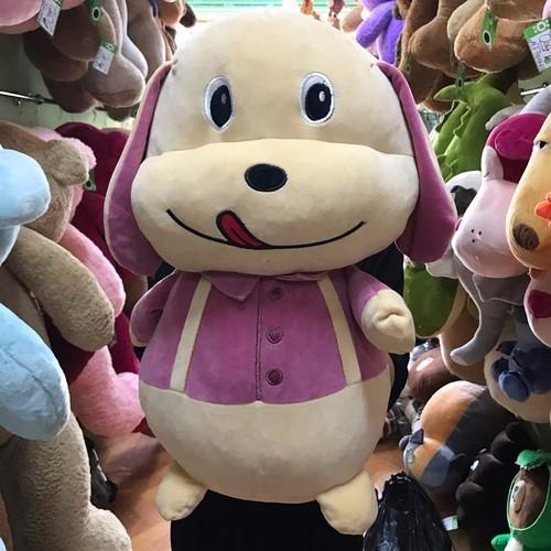 Chó mặc áo xanh hồng 50cm