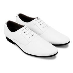 Giày thời trang da bò cột dây màu trắng