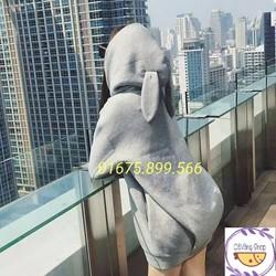 Áo hoodie tai thỏ hàng Quảng Châu có ảnh thật