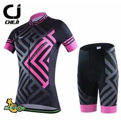 Thanh lý Quần áo bộ xe đạp nữ Cheji, Giant