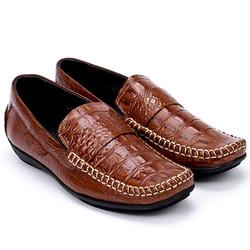 Giày nam vân cá sấu màu nâu