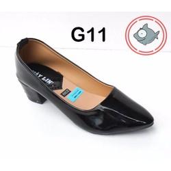 giày gót vuông trơn