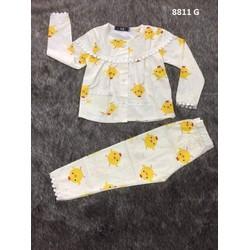 quần áo trẻ em - đồ bộ tay dài bé gái pijama