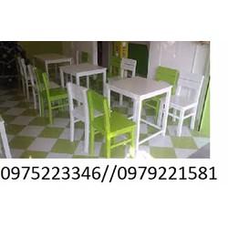 bàn ghế cafe trà sữa giá bán tại nơi sản xuất