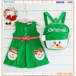 Đầm Noel kèm balo xinh xắn cho bé đón Giang Sinh