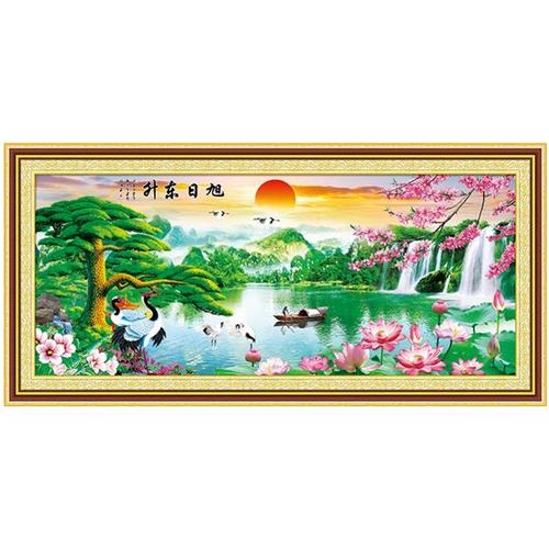 Tranh thêu chữ thập phong cảnh YN6086 163 x 75 cm - 7740748 , 7925783 , 15_7925783 , 245000 , Tranh-theu-chu-thap-phong-canh-YN6086-163-x-75-cm-15_7925783 , sendo.vn , Tranh thêu chữ thập phong cảnh YN6086 163 x 75 cm