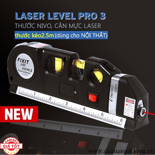 Thước Nivo, Căn Mực 4in1 Laser Level Pro 3 - 7741102 , 7936376 , 15_7936376 , 166000 , Thuoc-Nivo-Can-Muc-4in1-Laser-Level-Pro-3-15_7936376 , sendo.vn , Thước Nivo, Căn Mực 4in1 Laser Level Pro 3