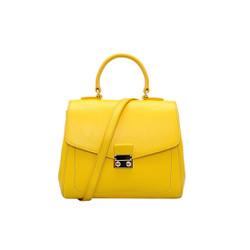 Túi xách nữ da bò thật cao cấp màu vàng ET166