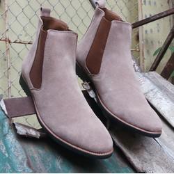 Giày chelsea boot nam cổ cao da lộn giá rẻ nhất, Freeship toàn quốc