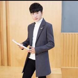 Áo khoác măng tô kiểu dáng thời trang, chất dạ đẹp