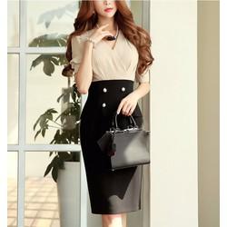 Đầm liền chân váy bút chì phong cách Korea DN11940