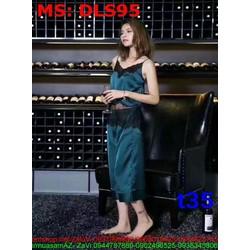 Sét bộ đồ ngủ áo 2 dây phối quần ổng rộng alibaba DLS95