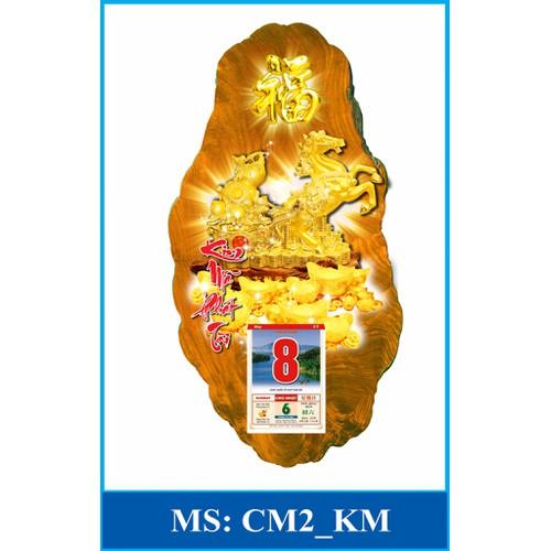 Mẫu CM2 - Lịch gỗ phong thủy