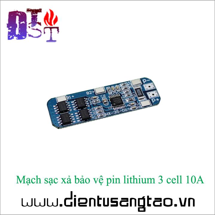 Mạch sạc xả bảo vệ pin lithium 3 cell 10A 2