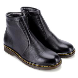 Giày boot nam da bò màu đen