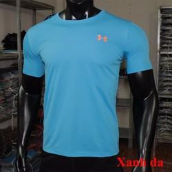Áo thun thể thao nam logo thêu cổ tròn nhiều màu
