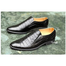 Giày lười vân cá sấu da bò giá rẻ ,freeship toàn quốc